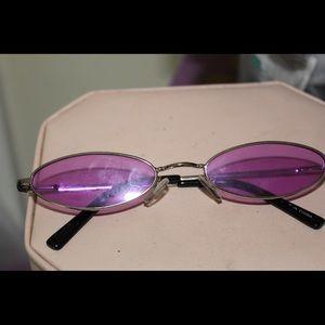 Purple oval sunglasses